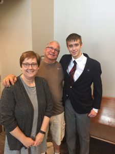 Daniel with Aunt and Uncle