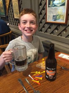 Luke with Stewart's Root Beer
